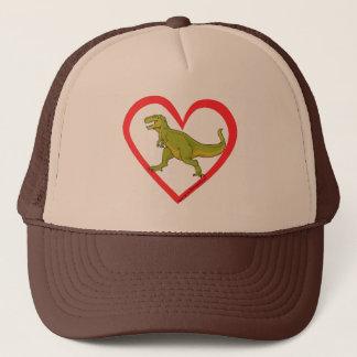 T Rex Heart Trucker Hat