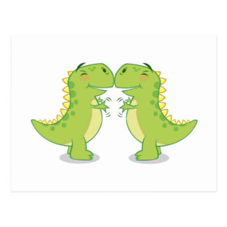 T-Rex Hug...So Close Postcard