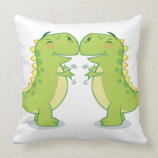 T-Rex Hug...So Close Throw Pillow