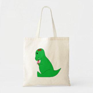 T-Rex Ice Cream Cone Tote Bag