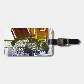 T-Rex in a tophat Tag For Bags