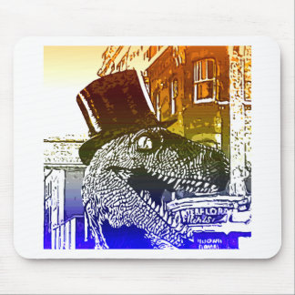 T-Rex in a tophat Mouse Pad
