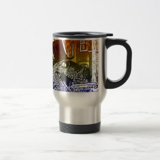 T-Rex in a tophat Travel Mug