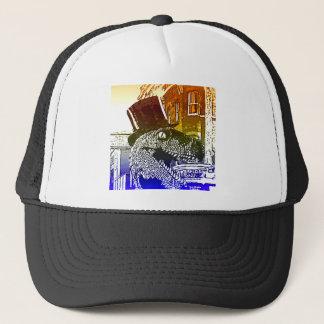 T-Rex in a tophat Trucker Hat