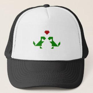 T-Rex in Love (Tangramosaurus Rex) Trucker Hat