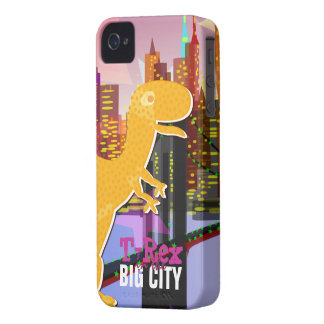 T-Rex in the Big City BlackBerry Bold Case iPhone 4 Cases