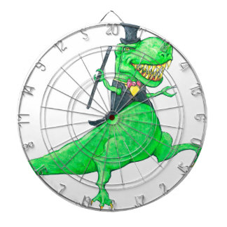 T-Rex in Top Hat and Tails Dartboard