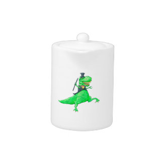 T-Rex in Top Hat and Tails Teapot