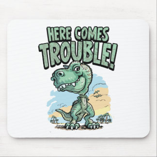 T Rex KId Mouse Pad