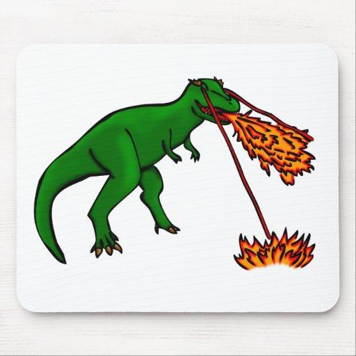 t-rex lazer flames mouse pad