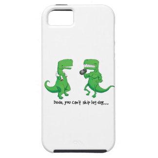 t-rex leg day light iPhone SE/5/5s case