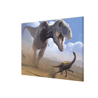 T Rex Impresión De Lienzo