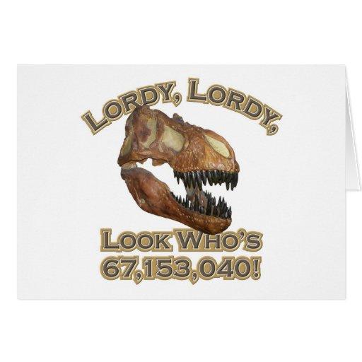 T-rex/Lordy Tarjeta De Felicitación