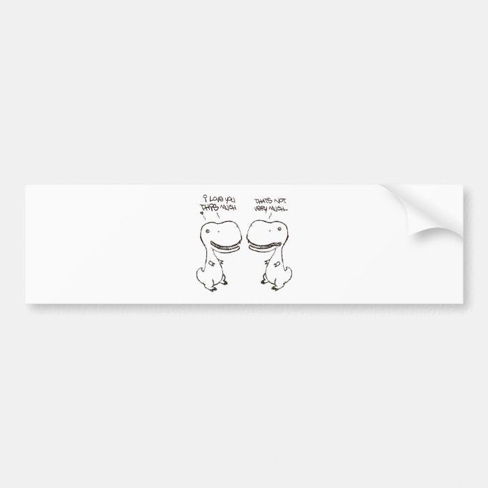 T-rex love bumper sticker