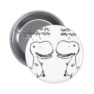 T-rex love 2 inch round button