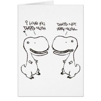 T-rex love greeting cards