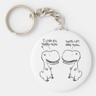 T-rex love keychains