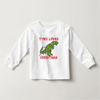 T-Rex Loves Christmas Tee Shirt