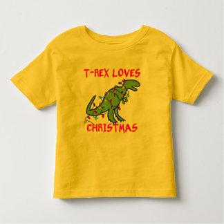 T-Rex Loves Christmas Tshirts