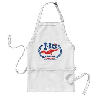 T-Rex Loves Push-Ups Adult Apron