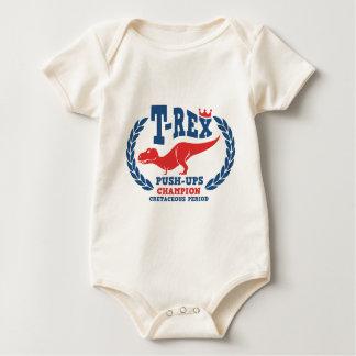 T-Rex Loves Push-Ups Baby Bodysuit