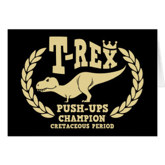 T-Rex Loves Push-Ups Cards