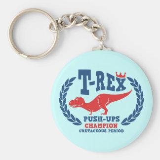 T-Rex Loves Push-Ups Keychain