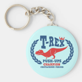 T-Rex Loves Push-Ups Keychains