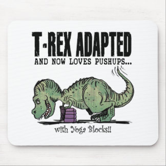 T-Rex Loves Pushups Mouse Pad