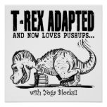 T-Rex Loves Pushups Posters