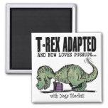 T-Rex Loves Pushups Refrigerator Magnet