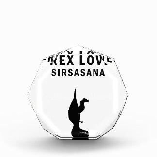 t-rex loves sirsasaniana acrylic award