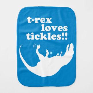 T-Rex Loves Tickles! Baby Burp Cloth