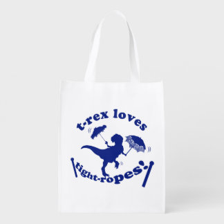 T-Rex Loves Tightropes! Grocery Bag