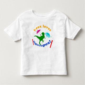T-Rex Loves Tightropes! Toddler T-shirt