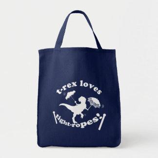 T-Rex Loves Tightropes! Tote Bag