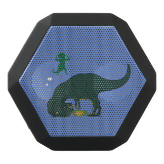 T Rex making a wish Black Bluetooth Speaker