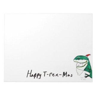 T-Rex Mas Christmas Notepad