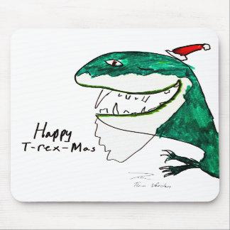 T-Rex-Mas navidad Mousepad Alfombrillas De Ratones