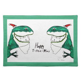 T-Rex-Mas navidad Placemat Manteles