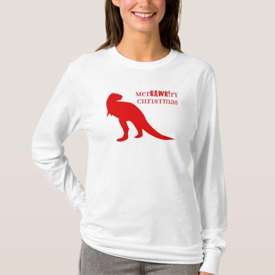 T-Rex merRAWRry Christmas T-Shirt