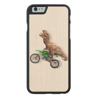 T rex motorcycle - t rex ride - Flying t rex Carved Maple iPhone 6 Case