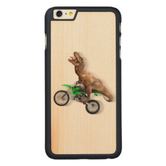 T rex motorcycle - t rex ride - Flying t rex Carved Maple iPhone 6 Plus Slim Case