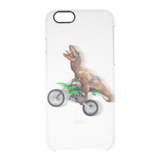T rex motorcycle - t rex ride - Flying t rex Clear iPhone 6/6S Case