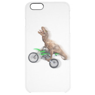 T rex motorcycle - t rex ride - Flying t rex Clear iPhone 6 Plus Case