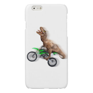 T rex motorcycle - t rex ride - Flying t rex Glossy iPhone 6 Case