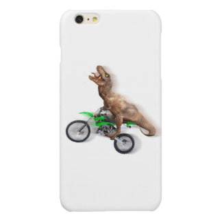 T rex motorcycle - t rex ride - Flying t rex Glossy iPhone 6 Plus Case
