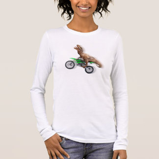 T rex motorcycle - t rex ride - Flying t rex Long Sleeve T-Shirt