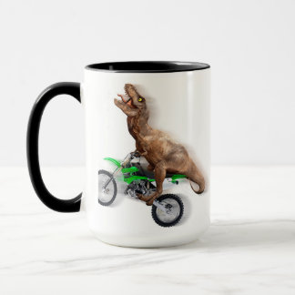 T rex motorcycle - t rex ride - Flying t rex Mug