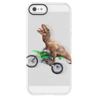 T rex motorcycle - t rex ride - Flying t rex Permafrost iPhone SE/5/5s Case